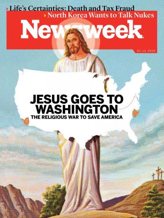 美国《新闻周刊》4月15日(提前出版)一期封面