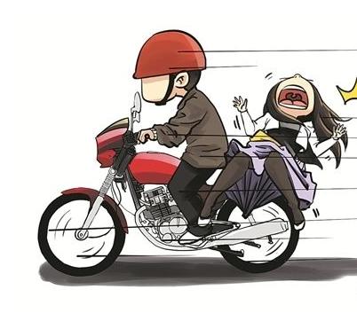 在摩托车上干大姐