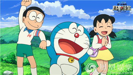 欢呼的哆啦A梦、大雄和静香-哆啦A梦2016热映口碑爆棚 乘时光机重返图片