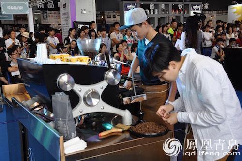 青岛国际咖啡展第二日 中韩冠军联盟赛精彩纷呈