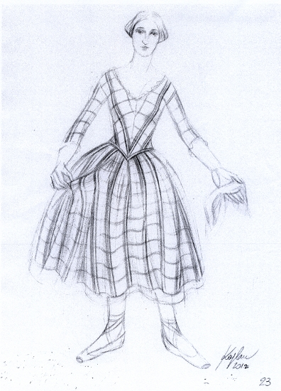 现代服饰裙子简笔画 幼儿园