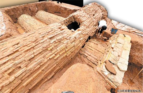动物园发现东汉砖室墓