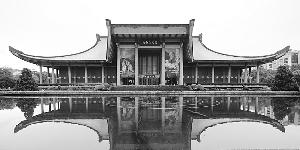 台湾建筑师王大闳设计的孙中山纪念馆,延续了古典气息。