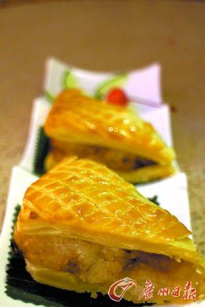 法式酥皮焗裹蒸粽。