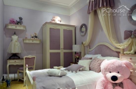 儿童房设计   设计重点:裸粉色公主房