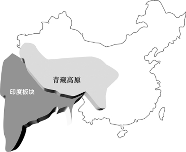 青藏高原在印度板块向北挤压的作用下,具有整体向北和向东运动的趋势