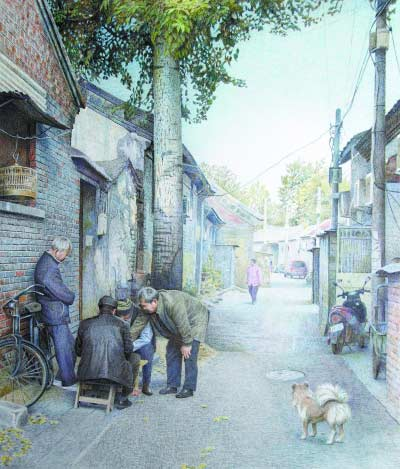 """""""老北京""""用钢笔画北京胡同 留住一座城市的记忆"""