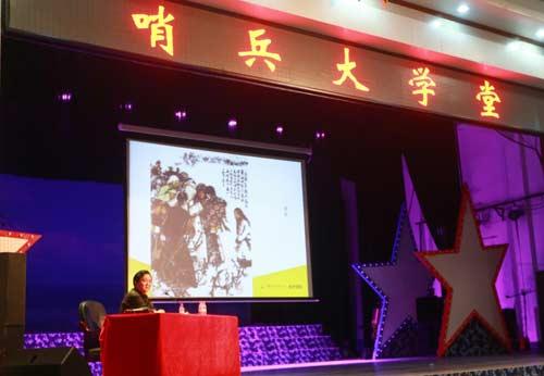 """江苏中国画家远下西沙 用艺术慰问""""最可爱的人""""(图)"""