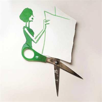 实物与涂鸦玩出创意漫画 立体创意简笔画火爆朋友圈