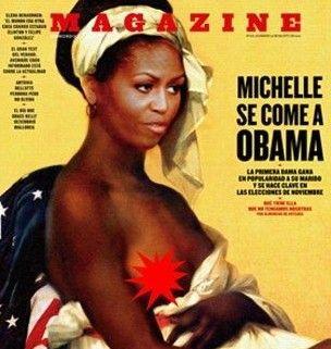 奥巴马夫人被PS成黑人裸奴