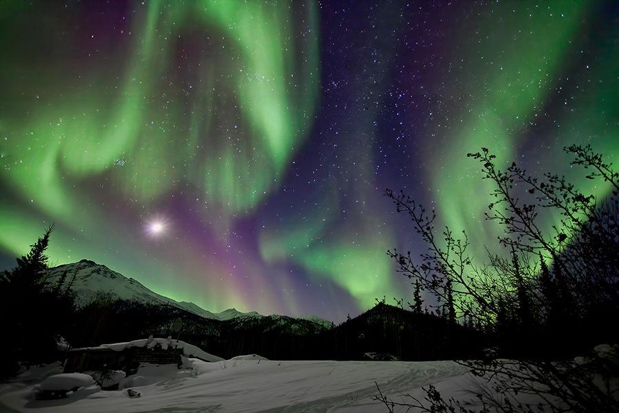 不像冰冷死寂的南极大陆,成批的探险者成就了如今的北极,也成就了现在的阿拉斯加。他们成群结队的来到这里,向着66°34'N挺进,百年前如此,百年后依旧如此,就像永远闪耀在北极上空极光一样……