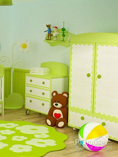 装饰点评:实木材质的儿童双层床