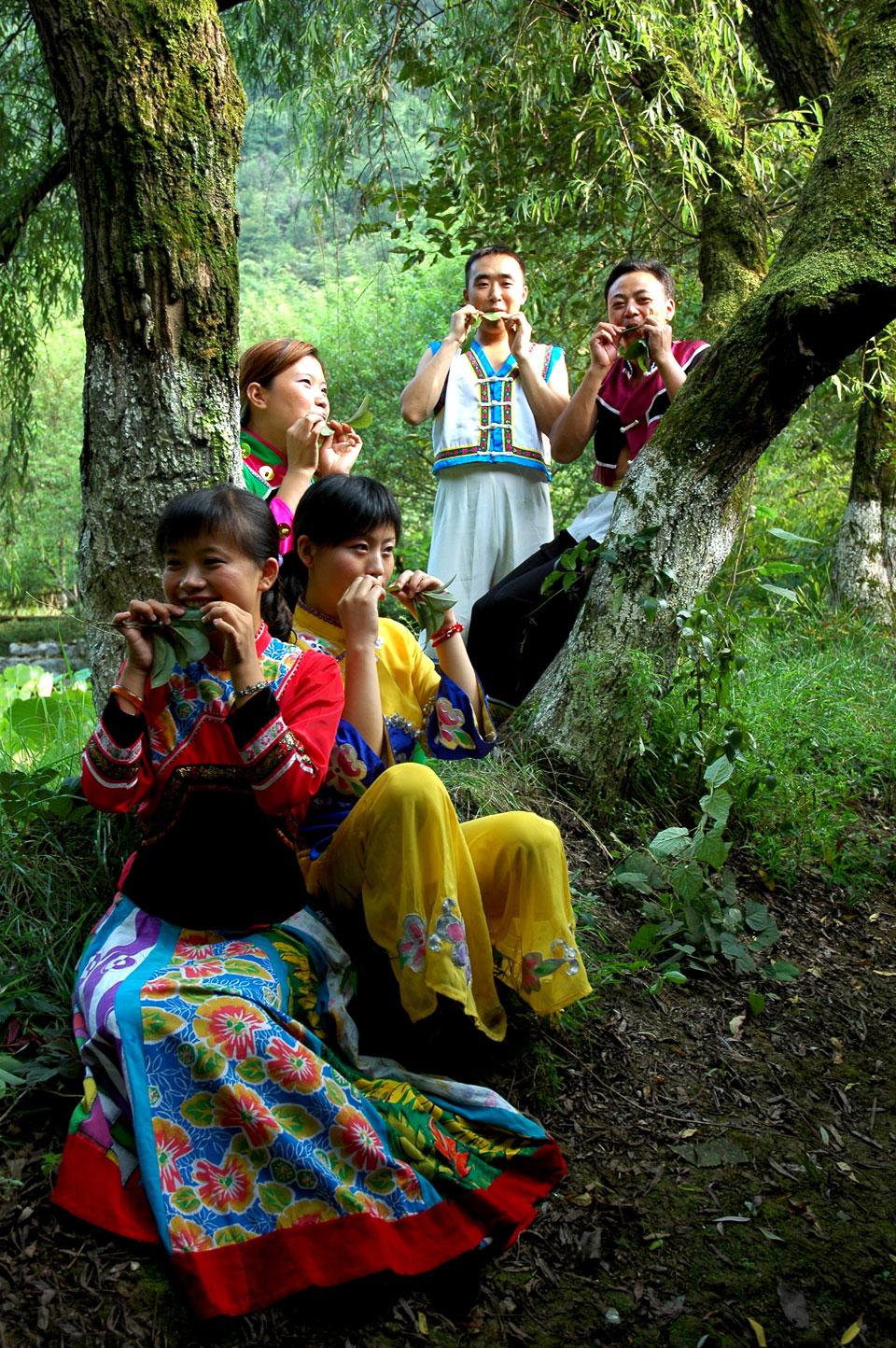 """""""木叶情歌""""是武陵山区土家族青年男女相互倾诉"""