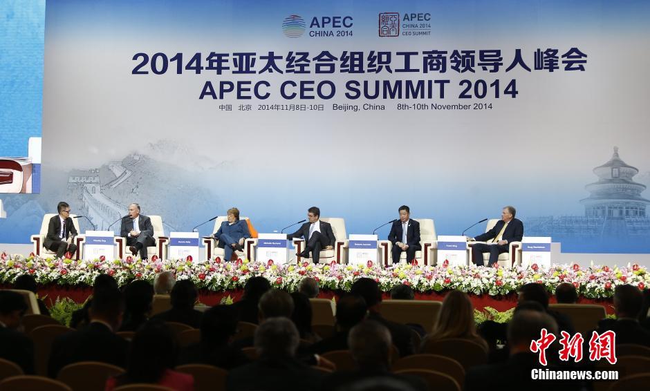 2014年亚太经合组织(APEC)工商领导人峰会在北京国家会议中图片
