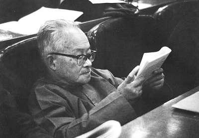 1979年11月6日,沈从文出席中国文学艺术工作者第四次代表大会。