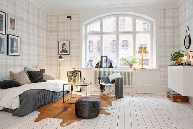 大爱清新北欧风格 英伦格子小公寓