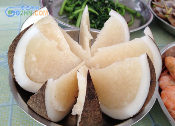 铜陵椰子船-海南特色美食价值饭的椰子营养介来美食了海南图片