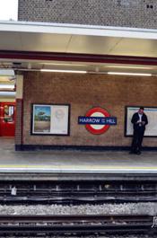 伦敦街景:地铁站台