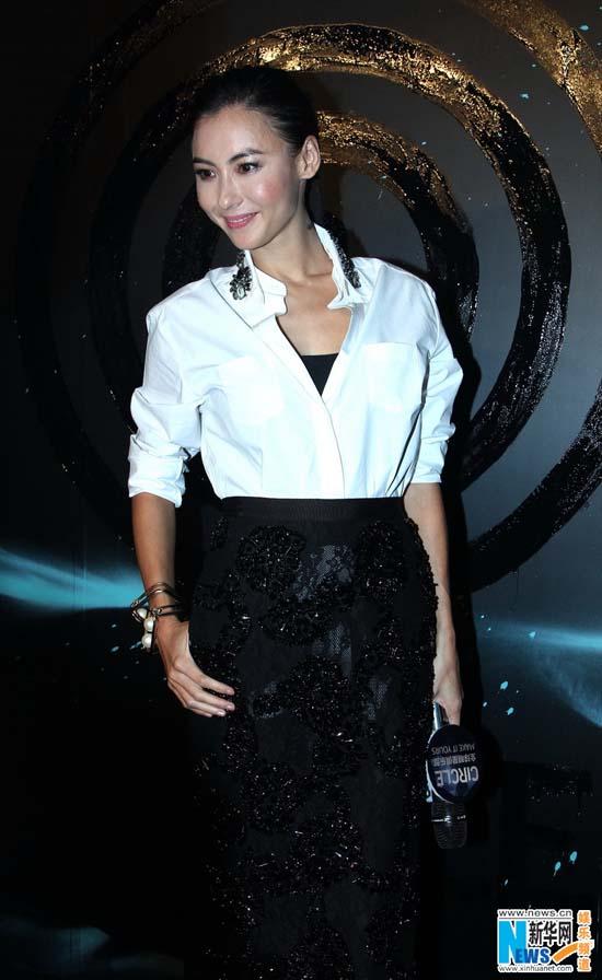 张柏芝作为circlechina气场创意照片总监出席,以她特有的时尚与盛装纪文君魅力性感六点半图片