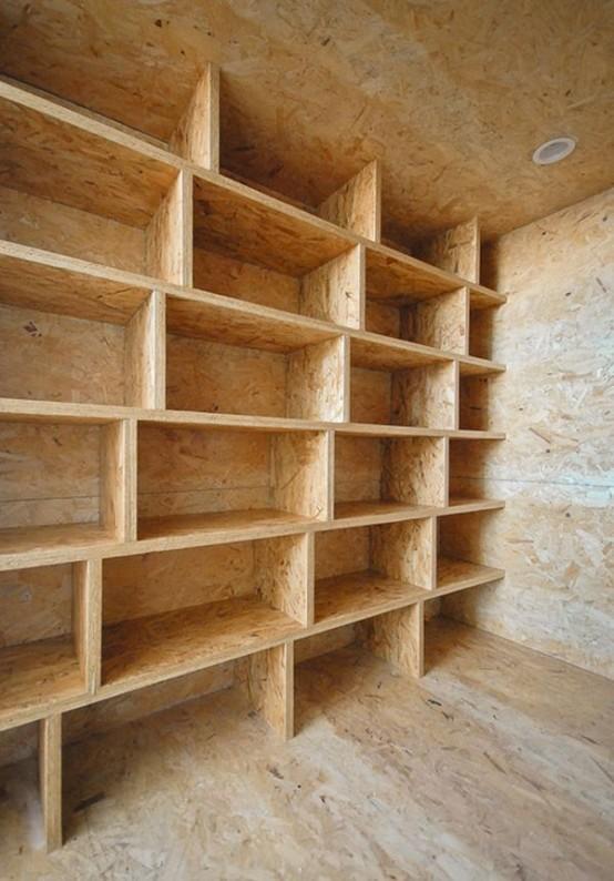 纯木质结构的储物空间.-全新大胆的理念 不规则简约公寓