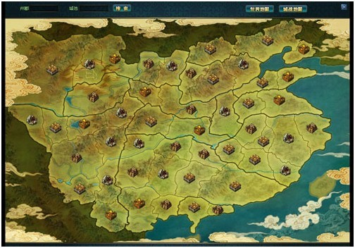 三国初期势力地图