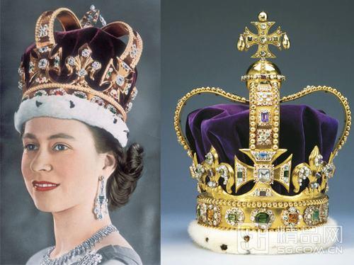 伊丽莎白女王传奇王冠 3000颗宝石为加冕