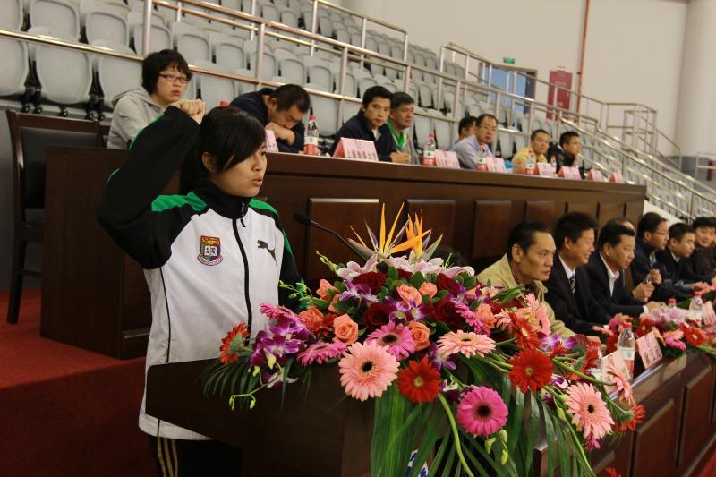 香港大学/图片说明:香港大学曲棍球队参赛代表宣誓