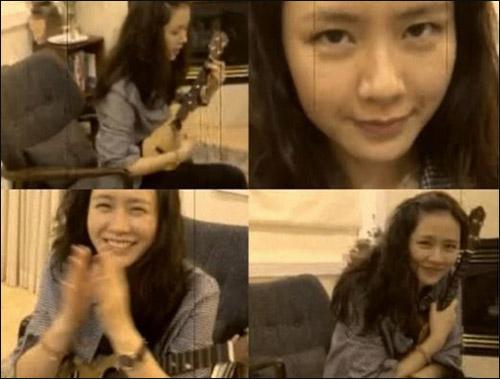 """尤克里里琴练习现场(拍摄、剪辑:演员   尹恩惠   小姐)""""为"""