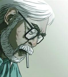 作品 退休/宫崎骏漫画形象。(资料)