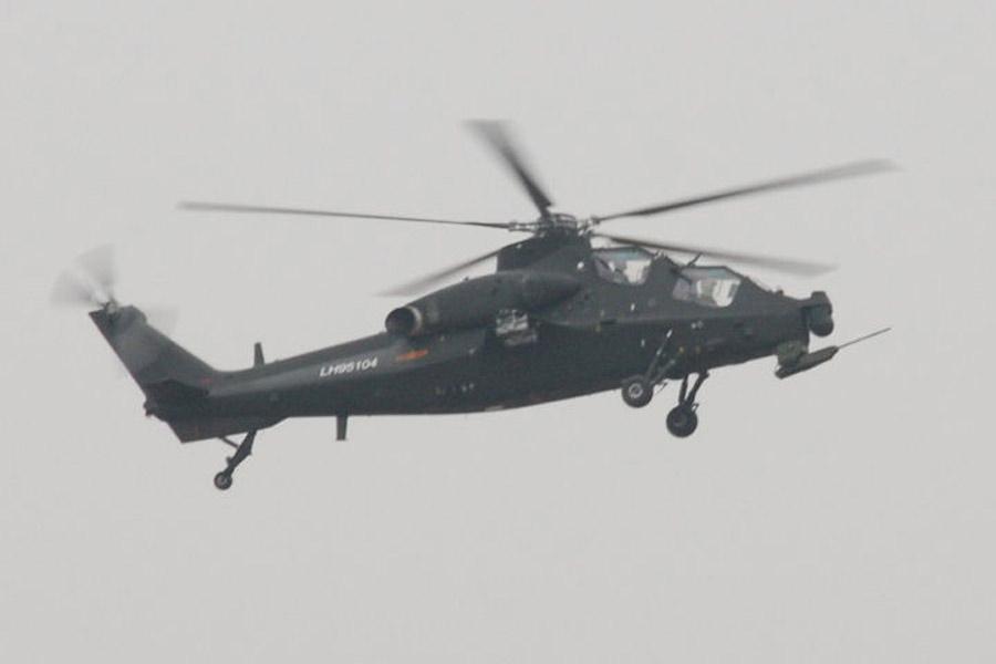 中国陆航装备wz10直升机照片曝光