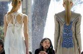 当地时间2012年4月27日,法国,第27届Hyeres时尚摄影节(27th edition of the International Festival of Fashion and Photography)开幕。日本著名设计师山本耀司(Yohji Yamamoto)担纲评委。