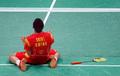 羽毛球男单 谌龙2-1胜李炫一夺铜牌