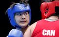 女子拳击75公斤级 李金子晋级四强