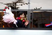 朝鲜代表团凯旋归国受热捧