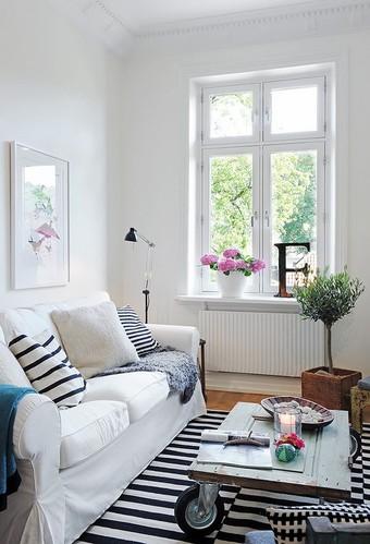 巧用拼花木地板 装饰迷人北欧风格公寓