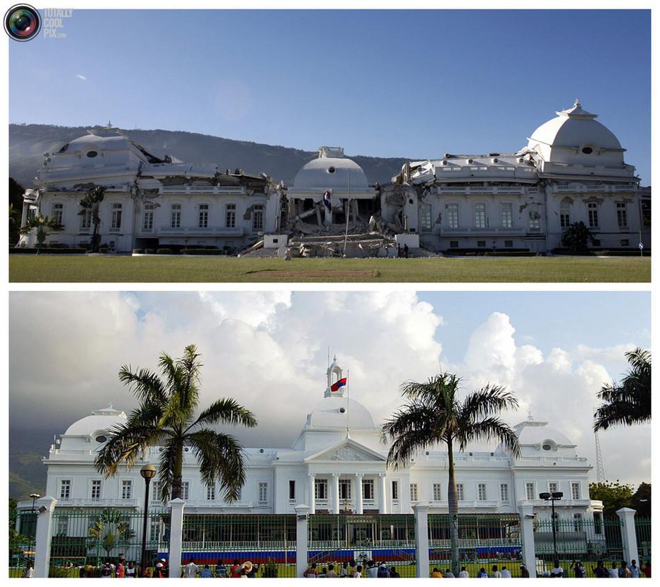 海地/海地总统府曾被认为是新古典主义建筑中的典范,被称作加勒比的...