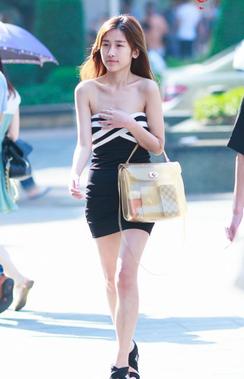 重庆美女性感街拍