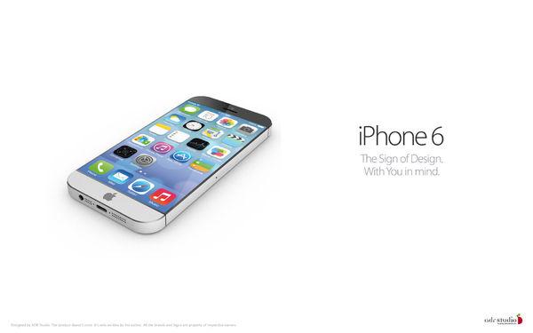 iphone 6概念图曝光:5.5吋超窄边框屏幕