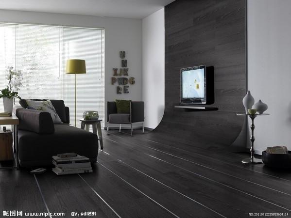 深色木地板打造高雅家居 营造沉稳高贵居家气质