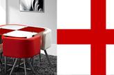 对于在全球足球运动推广中有着举足轻重作用的英格兰队,虽然在国际比赛上没获得太多突出的成绩,但喜欢他们的粉丝却非常多。红白的国旗配色十分醒目,用在家居配色里,时尚大气感十足。运用红色在简洁的白中制造亮点,抢眼之余还品位十足。