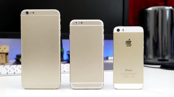 双尺寸iphone 6对比lg