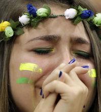 巴西球迷眼泪继续飞