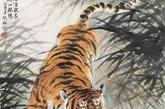 如果是一只虎的构图,以丛林中的上山虎最佳,虎借山势更有威严,在平台,草原或者山脚下的构图都不好。(实习编辑:辛莉惠)