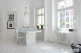 白色单品:在简约的设计中,白色往往占据了很大部分,白色地毯,白色桌布,白色窗帘,白色壁纸……这些都是必不可缺少元素,但也要注意用适当的线条和花纹作为点缀,以免单调。