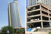 图为烂尾十年的瑞尔大厦。