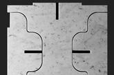 大理石板材进行标准化的切割与组合,可以形成兼具功能美感的家居作品。(实习编辑:石君兰)