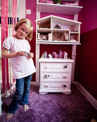 女孩子的公主套间 给孩子一个粉红色的梦想