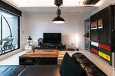 此屋屋主为音乐工作者,设计师考虑到面积较小,又需要置入工作所需专业设备,把隔间墙面以玻璃搭配卷帘取代,形成有穿透感和隐私效果兼具空间,而且光线也进得来。虽然是轻工业风,不过为了省预算而没有动地板与厨房,设计师建议大家,不妨透过铁件仿旧家具、镀锌板材、螺旋管等组合创造冷硬氛围,或者购买镀锌货架当收纳柜,另外再加上个人特色元素,譬如说音乐人就可运用「ON AIR」灯饰营造趣味点,展现强烈自我风格。喜欢工业风屋主们,快来仔细??看看照片细节,找些灵感参考吧。(实习编辑:江冬妮)