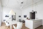 维也纳白色舒适公寓 三居室的典雅品位