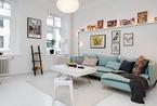 新艺术运动风格瑞典公寓 57平米的高效空间布局